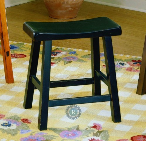 "Saddleback 24"" Black Sand Stool"