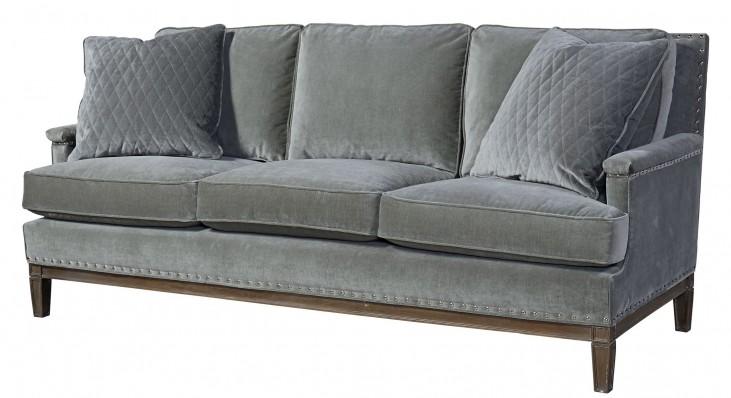Prescott Gray Velvet Sofa