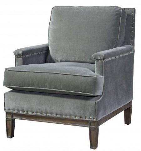 Prescott Gray Velvet Chair