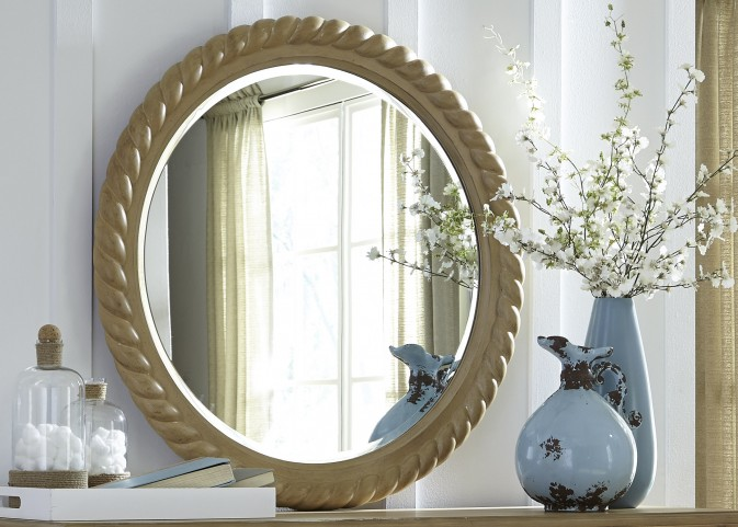 Harbor View Sand Rope Mirror
