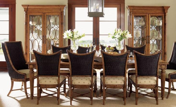 Island Estate Plantation Brown Grenadine Extendable Rectangular Dining Room Set