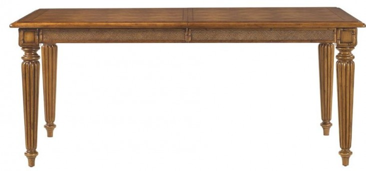 Island Estate Plantation Brown Grenadine Extendable Rectangular Dining Table