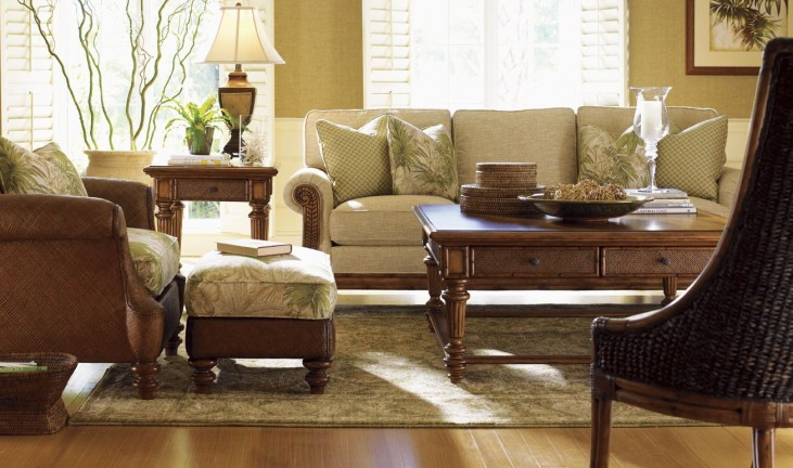 Island Estate Plantation Brown Boca Occasional Table Set