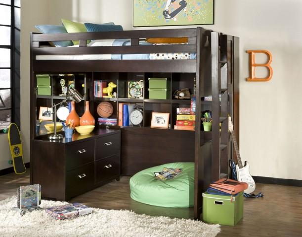 Smart Solutions Merlot 5 Piece Bunk Bedroom Set