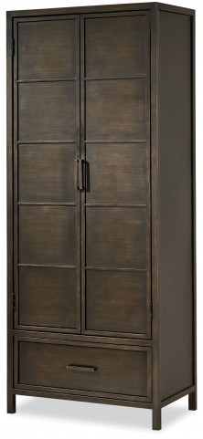 MyRoom Parchment and Gray Varsity Metal Cabinet