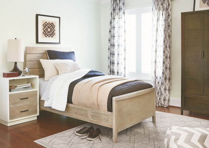 MyRoom Parchment and Gray Youth Reading Bedroom Set