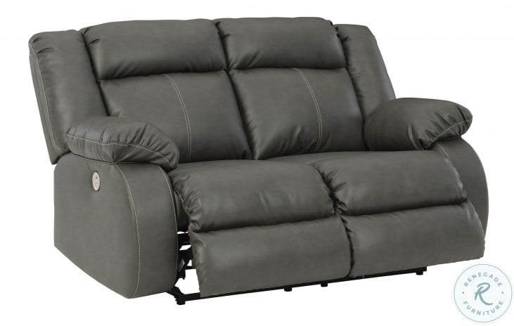 Denoron Gray Power Reclining Living Room Set