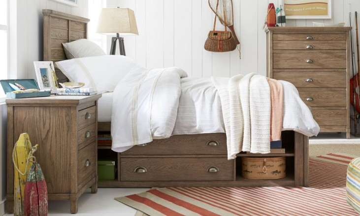Driftwood Park Sunflower Seed Youth Panel Bedroom Set