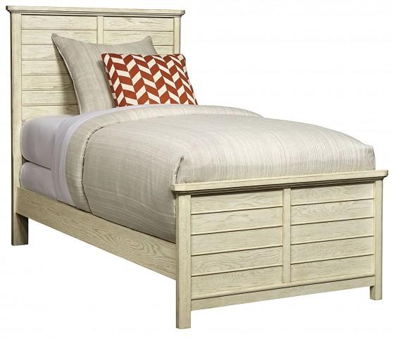 Driftwood Park Vanilla Oak Twin Panel Bed