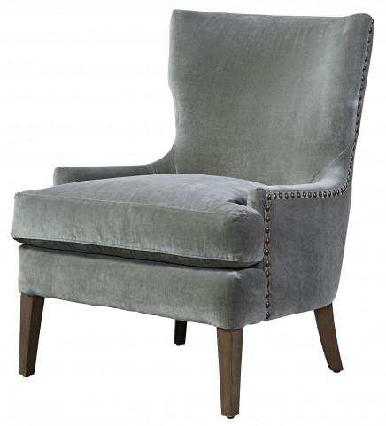 Aubrey Gray Accent Chair