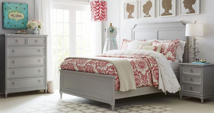 Clementine Court Spoon Panel Bedroom Set