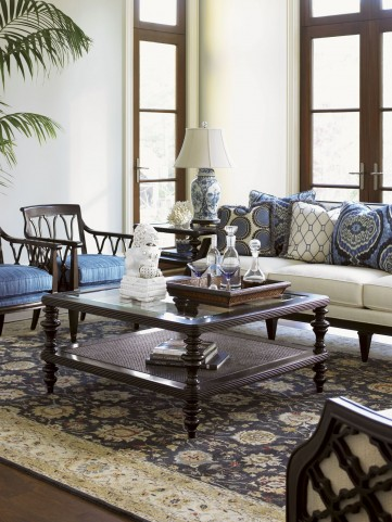 Royal Kahala Pacific Campaign Occasional Table Set