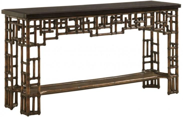 Royal Kahala Mystic Wood Shelf Console