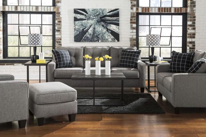 Brindon Charcoal Living Room Set