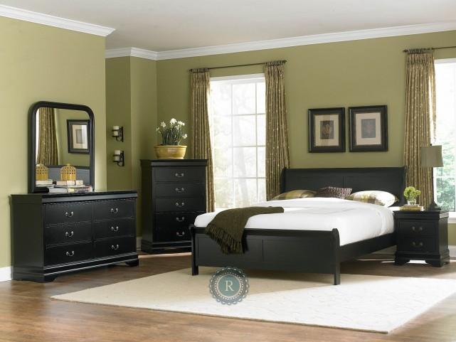 Marianne Black Sleigh Bedroom Set