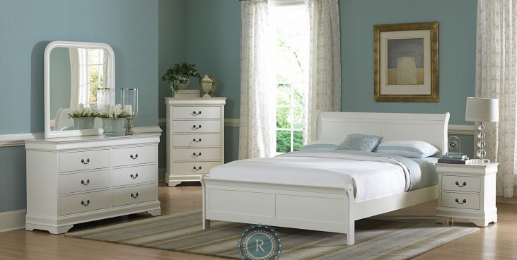 Marianne White Sleigh Bedroom Set
