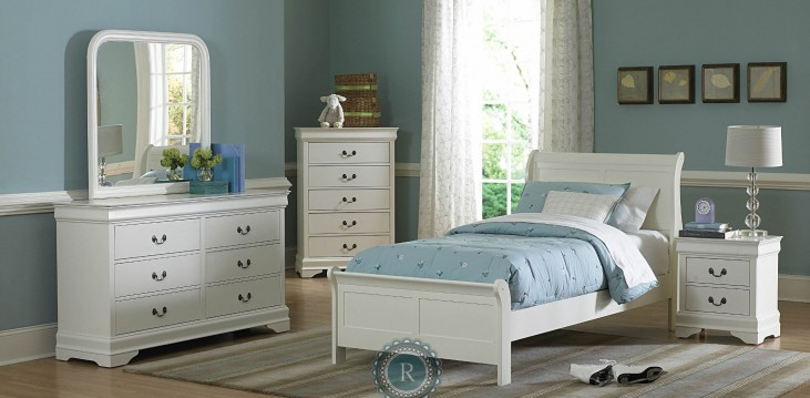 Marianne White Youth Sleigh Bedroom Set