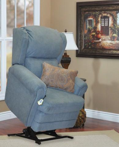 Abby Blue Wall-a-way Reclining Lift Chair With lumbar Pillow