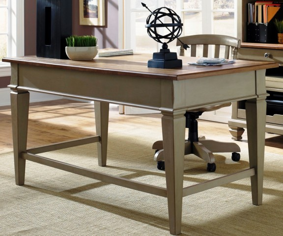 Bungalow Taupe Jr Executive Desk