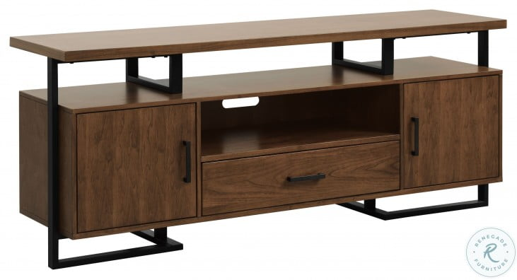 """Sedley Walnut and Rustic Black 68"""" TV Concole"""