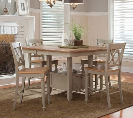 Greenington Bamboo Furniture Currant Black Walnut Rectangular Dining Room Set