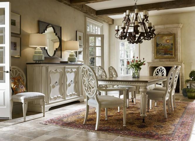 Sojourn Summer White Extendable Dining Room Set