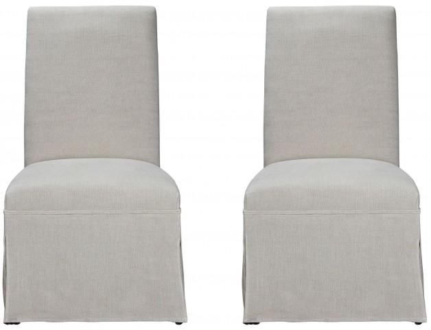 Sojourn Upholstered Summer White Side Chair Set of 2