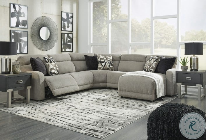Colleyville Stone Power Reclining RAF Sectional