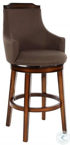 Bayshore Chocolate Swivel Pub Height Chair Set of 2