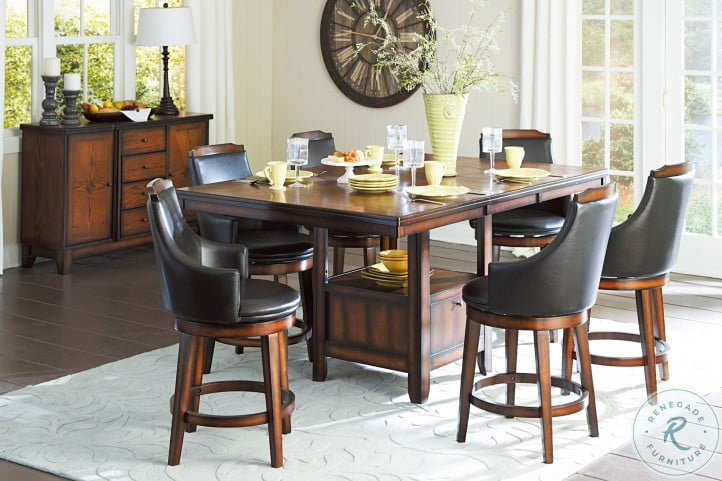 Bayshore Extendable Counter Height Dining Room Set