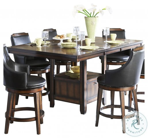 Bayshore Burnished Oak Extendable Counter Height Dining Table