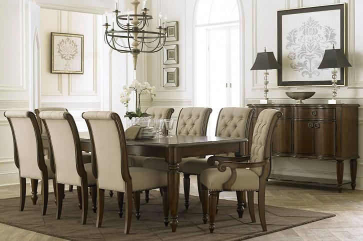 Cotswold Cinnamon Rectangular Leg Extendable Dining Room Set