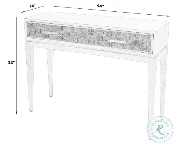 Faddei Light Wood Console Table