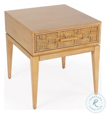 Faddei Light Wood End Table
