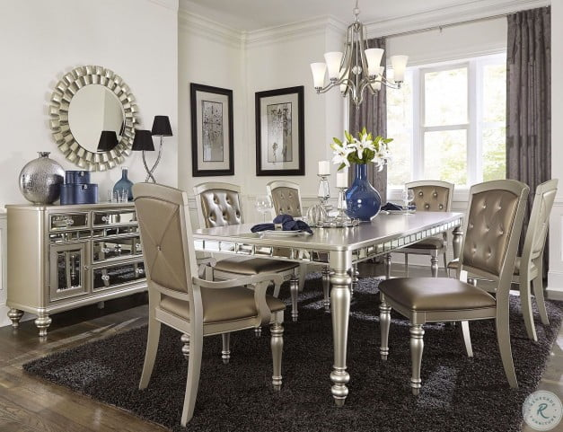 Orsina Silver Extendable Dining Room Set