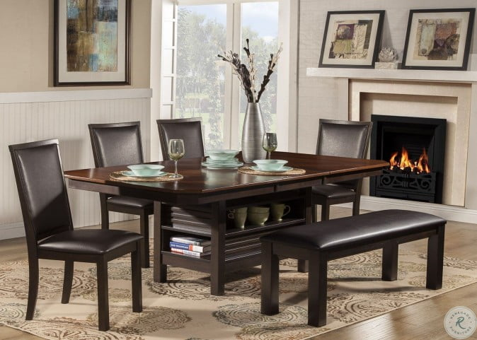 Davenport Espresso Extendable Dining Room Set