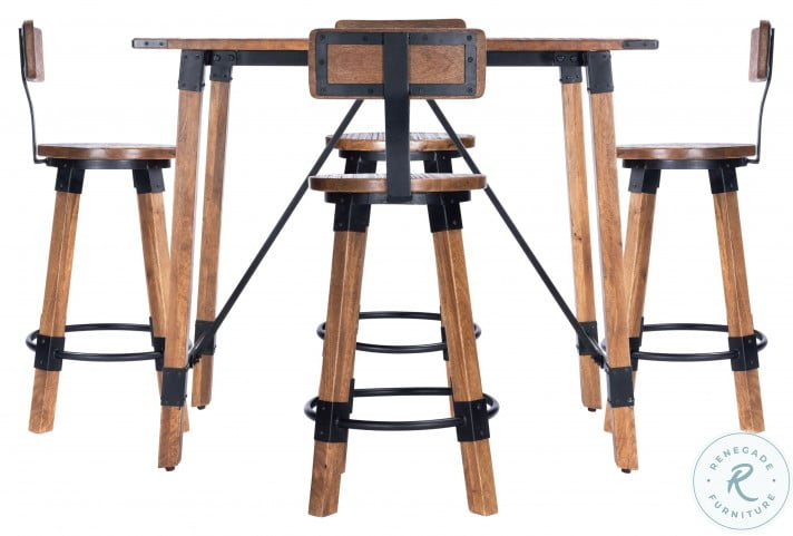 Masterson Natural Wood Pub Table Set