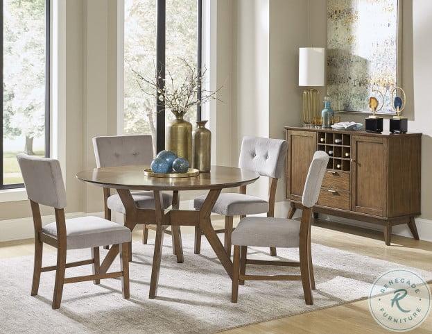 Edam Brown Round Dining Table