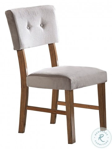 Edam Brown Upholstered Side Chair Set of 2