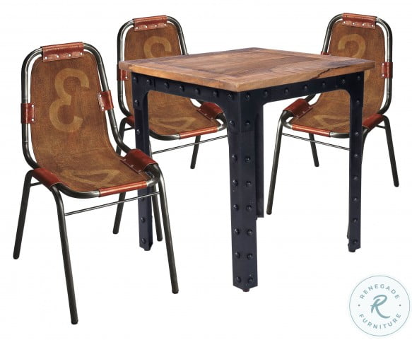 River Natural Wood And Metal Dining Table