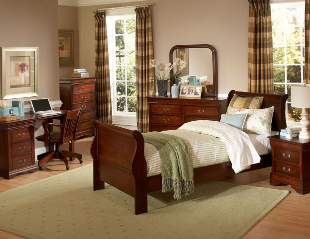 Chateau Brown Full Panel Bed