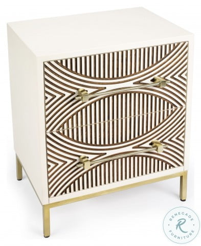 Cirella White 2 Drawer Chest