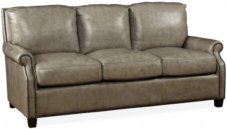 Kingston Vintage Cameo Light Gray Leather Sofa