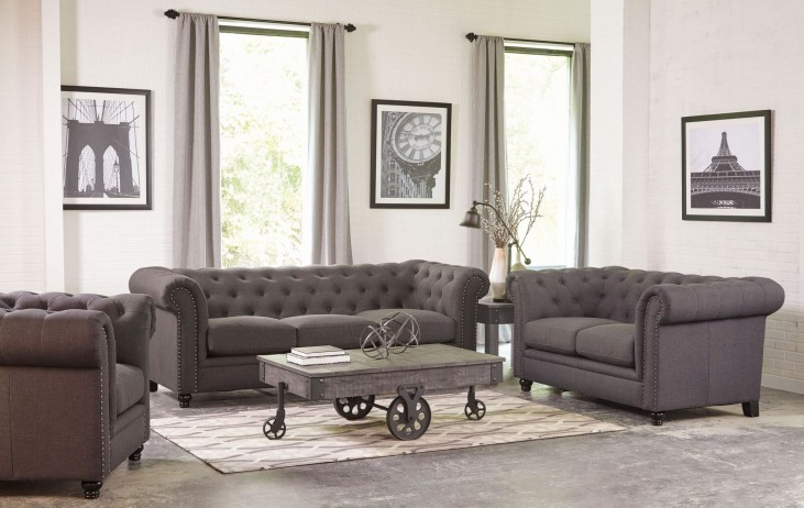 Roy Grey Living Room Set