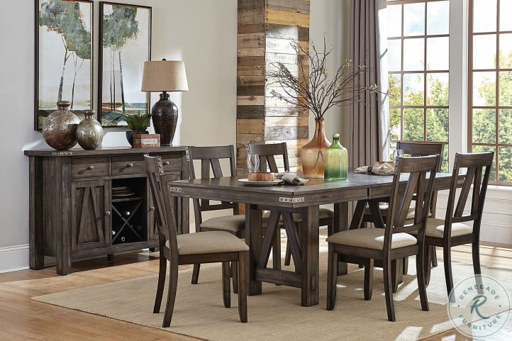 Mattawa Brown Extendable Dining Room Set