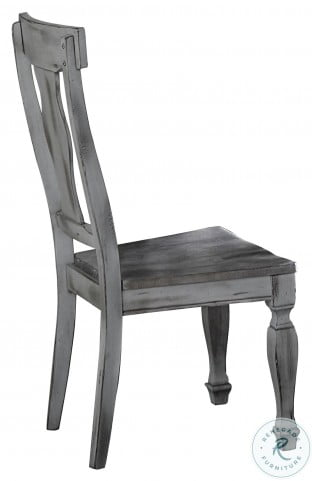 Fulbright Wire Brushed Gray Side Chair Set of 2
