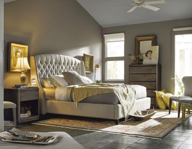 Curated Graphite Stain Halston Platform Bedroom Set