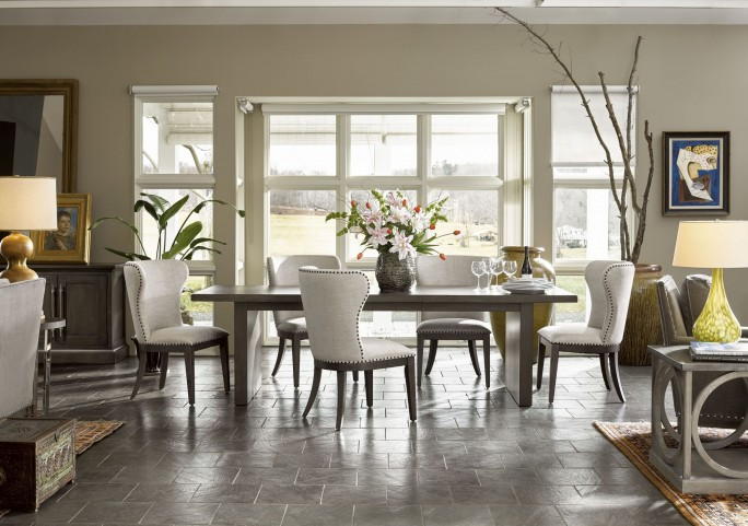Curated Graphite Stain Extendable Dining Room Set