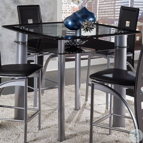Admirable Sona Black And Silver Counter Height Dining Table Squirreltailoven Fun Painted Chair Ideas Images Squirreltailovenorg