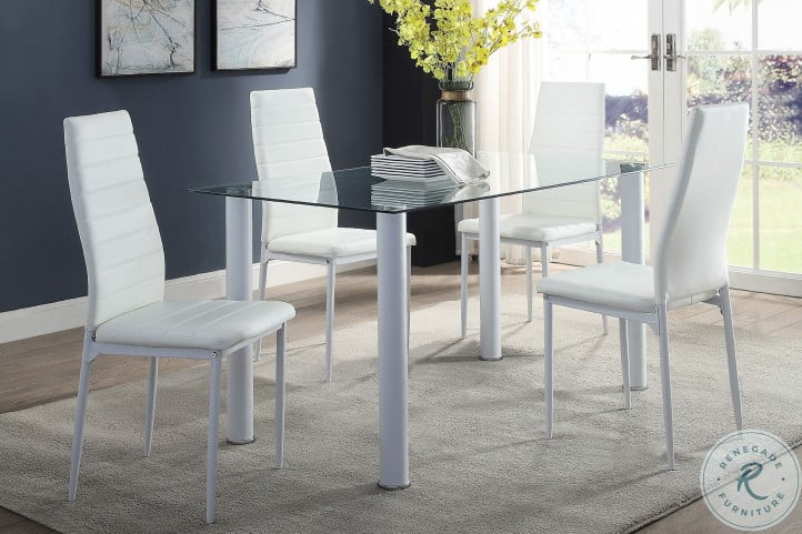 Florian White Side Chair Set of 2